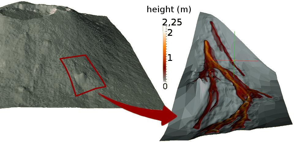 [volcanic lava flow]